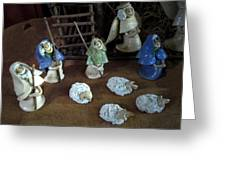 Creche Shepards And Sheep Greeting Card