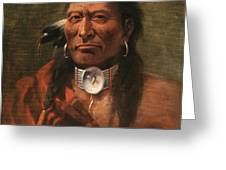 Cree Chief Greeting Card by Edgar S Paxson