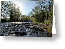 Creek And Bridge Greeting Card
