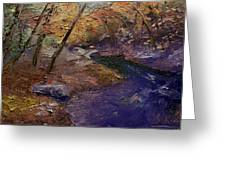 Creek Bank Greeting Card