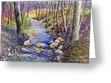 Creek Crossing Greeting Card