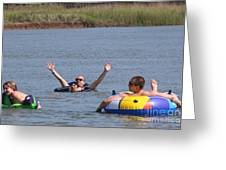 Creek Float Hands Greeting Card
