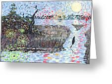 Creek Impressions #2 - Nocturne  Greeting Card