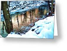 Creek In Bath Ohio Greeting Card