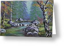 Creek In The Woods Greeting Card