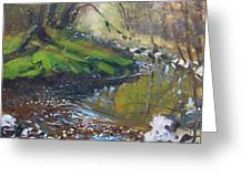 Creek In The Woods Greeting Card by Ylli Haruni