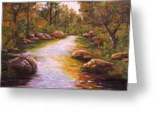 Creek Retreat Vii Greeting Card