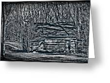 Creepy Cabin In The Woods Greeting Card