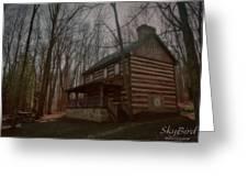 Creepy Cabin Greeting Card