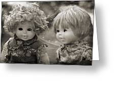 Creepy Dolls Greeting Card by Ankeeta Bansal