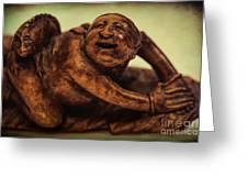 Creepy Things On The Mantel 4 Greeting Card