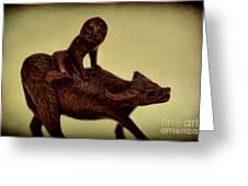 Creepy Things On The Mantel 5 Greeting Card