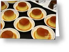 Creme Caramel Dessert Greeting Card