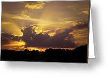 Crepuscular Rays Of Sunlight Greeting Card