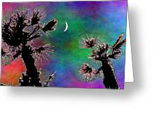 Crescent And Palms 2 Greeting Card