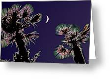 Crescent And Palms Greeting Card