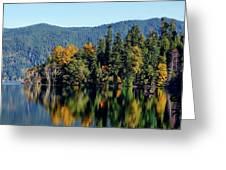 Crescent Lake Fall Colors Greeting Card