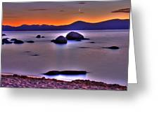 Crescent Moon Above Tahoe Greeting Card