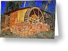 Crescent Moon Ranch Water Wheel Greeting Card