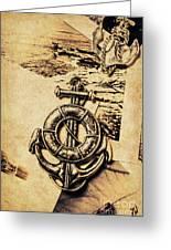 Crest Of Oceanic Adventure Greeting Card