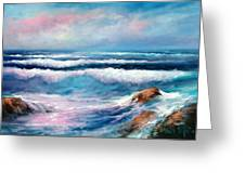 Cresting Waves Greeting Card