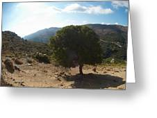 Crete Inland View Greeting Card