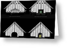 Crew Boathouse Elevations Greeting Card