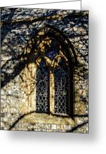 Cricket St Thomas Church Window Greeting Card