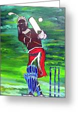 Cricket Warrior Greeting Card