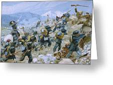 Crimean War And The Battle Of Chernaya Greeting Card by Italian School