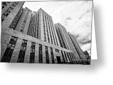 criminal courts building and tombs south building manhattan detention complex New York City USA Greeting Card