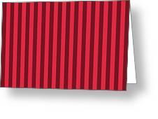 Crimson Red Striped Pattern Design Greeting Card