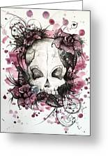 Crimson Skull Greeting Card