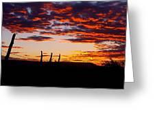 Crimson Sunrise  Greeting Card