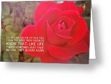 Crimson Velvet Quote Greeting Card