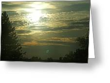 Crinkled Forehead Lines In The Sky Greeting Card