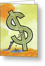 Crisis And Money Greeting Card