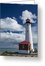 Crisp Point Lighthouse 7 Greeting Card