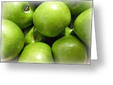 Crispy Green Apples From The Farmers Market Greeting Card