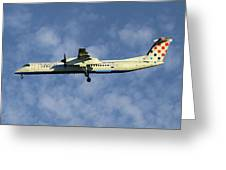 Croatia Airlines Bombardier Dash 8 Q400 Greeting Card