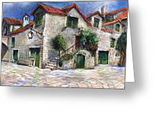 Croatia Dalmacia Square Greeting Card