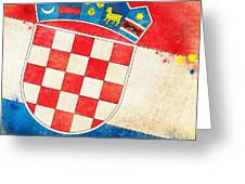 Croatia Flag Greeting Card by Setsiri Silapasuwanchai
