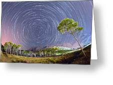 Croatia Star Trails Greeting Card