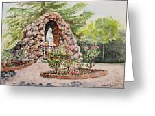 Crockett California Saint Rose Of Lima Church Grotto Greeting Card