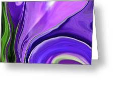 Crocus Abstract15 Greeting Card by Linnea Tober