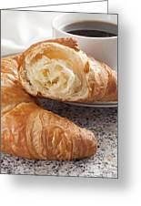 Croissants And Coffee Greeting Card