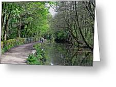 Cromford Canal - Tree Lined Walk Greeting Card