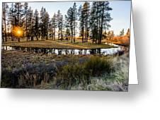 Crooked Creek Sunset Greeting Card