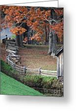 Crooked Fence Greeting Card