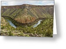Crooked River Gorge Greeting Card